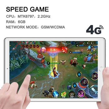 2021 Android 9.0 Tablete PC 6G+128GB 4G LTE Tablete 10.1 Inch Tablet Pc Google Play Dual SIM GPS, WiFi, Bluetooth tablete