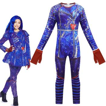 Evie Mal Cosplay Salopeta Costum de Halloween Filmul Descendenții 3 Cosplay, Costume pentru Copii Costume de Halloween Costume Fantasia